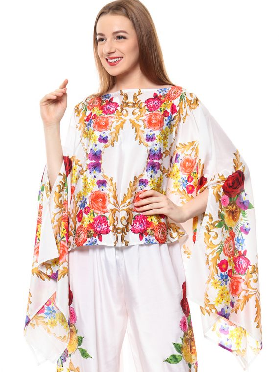 6386WHT_1 BAROQUE AND ROLL FANTASY LONG SCARF TOP_1