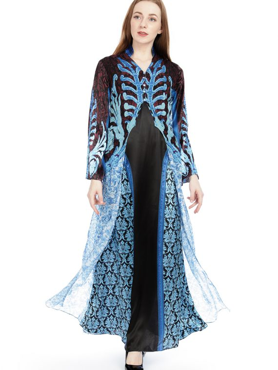 6501BLKBLU_6 RETURN TO MARRAKESH GOWN W JACKET_6