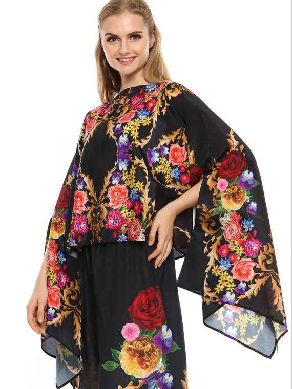 6386BLK_2 BAROQUE AND ROLL FANTASY LONG SCARF TOP_2