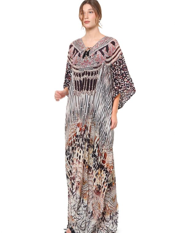6562WHTBLK_9 ALLURE LACE UP KAFTAN_9 Rev