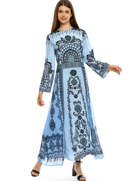 6582BLU_9 GIRL LIKE YOU DBL LAYER GOWN_9