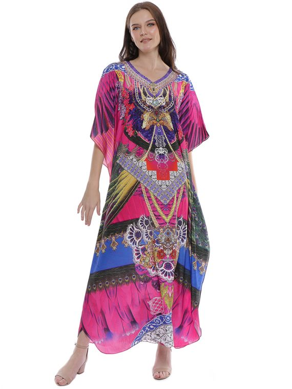 6605HPK_4(1st) FABLED FEATHERS KAFTAN_4(1st)